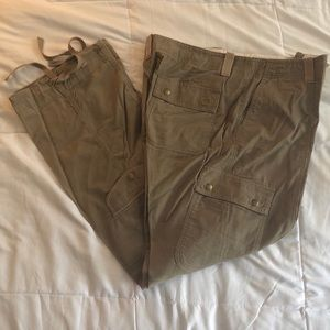Brown cargo corduroy pants